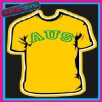 AUS AUSTRALIA SOCCER STAG FANCY DRESS PARTY TSHIRT